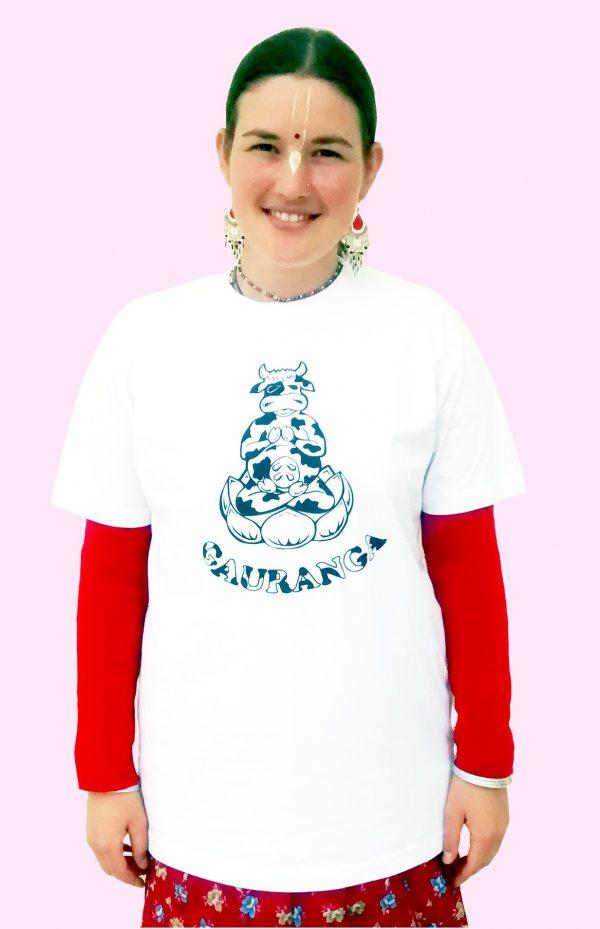 Jógázó boci Gauranga póló