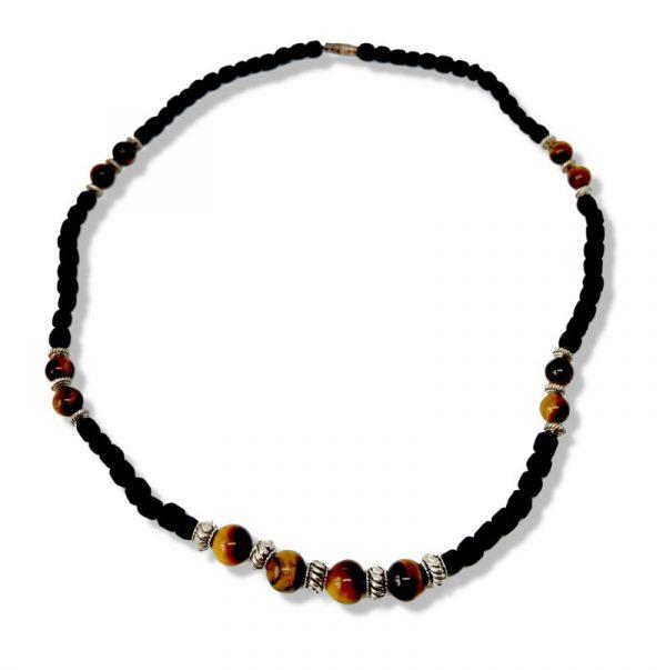 Tulasi fekete nyaklánc - Tigrisszem