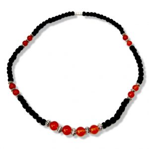 Tulasi fekete nyaklánc - Achát