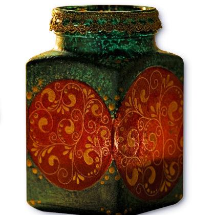 Samsara kézműves mécses tartó