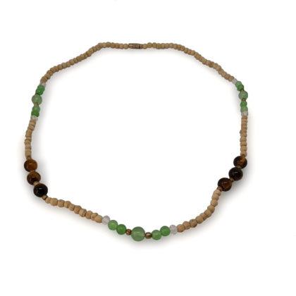 Tulasi nyaklánc – Moha-achát, tigrisszem